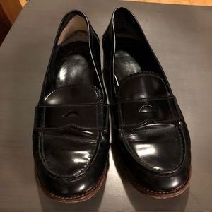 Prada Black leather loafers size 39